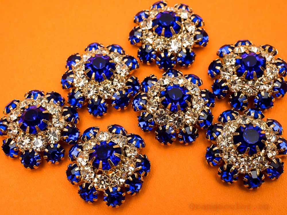 Купить товар Пуговица со стразами ПУ1589-04-23 по низкой цене с доставкой в интернет-магазине Цвет Апельсина.