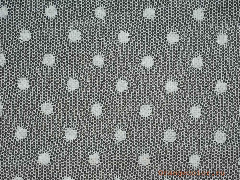 Купить товар Тонкая сетка с горошками 5881ПЭ по низкой цене с доставкой в интернет-магазине Цвет Апельсина.