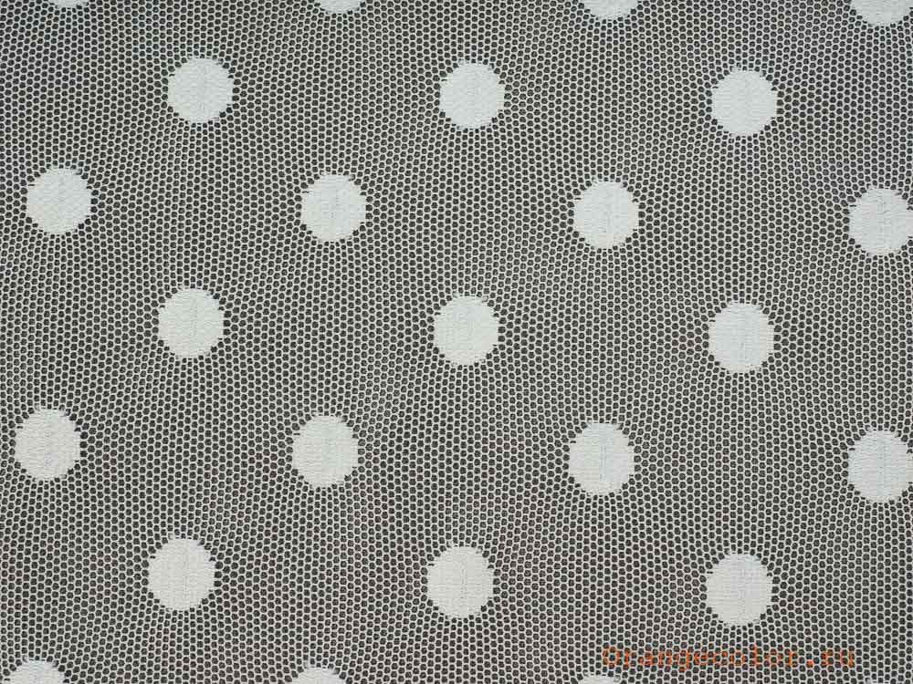 Купить товар Тонкая сетка с горошками 5882ПЭ по низкой цене с доставкой в интернет-магазине Цвет Апельсина.